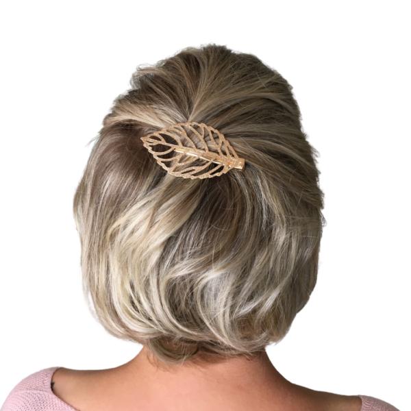 Haarspange Luna, goldenes Blatt, Haaraccessoire