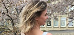 Blondes, feines Haar